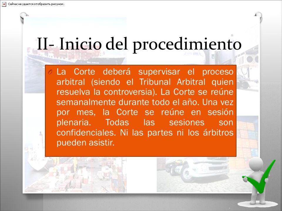 II- Inicio del procedimiento