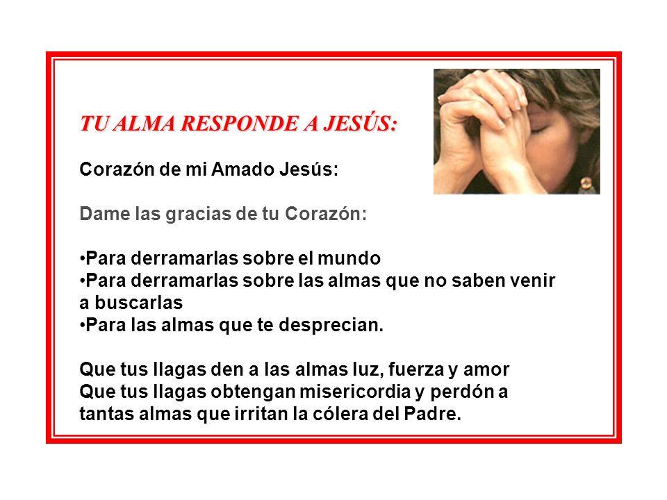 TU ALMA RESPONDE A JESÚS: