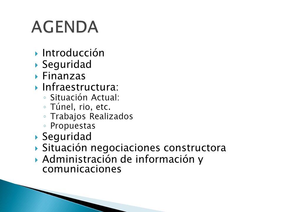 AGENDA Introducción Seguridad Finanzas Infraestructura: