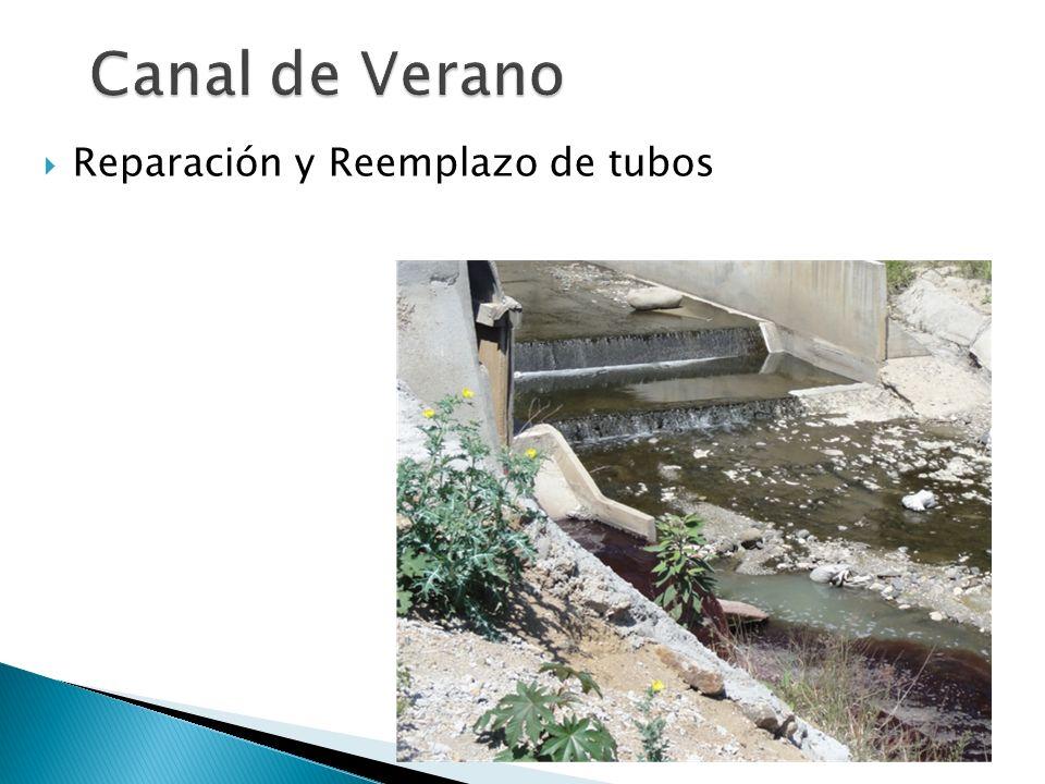 Canal de Verano Reparación y Reemplazo de tubos