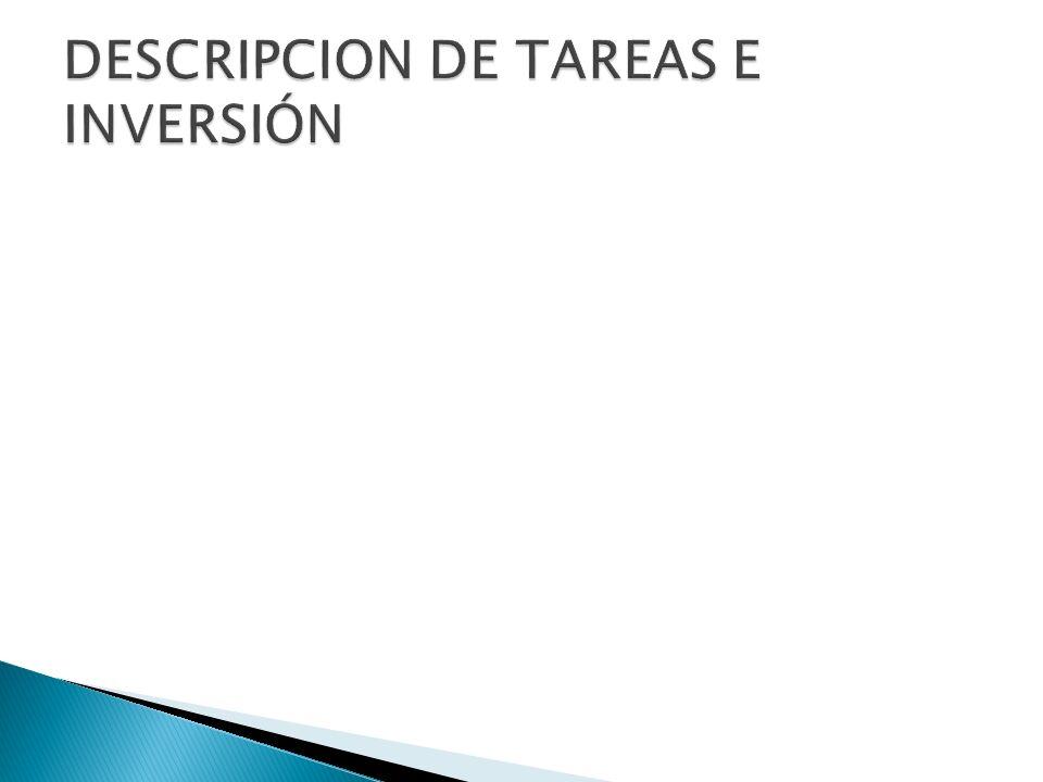 DESCRIPCION DE TAREAS E INVERSIÓN
