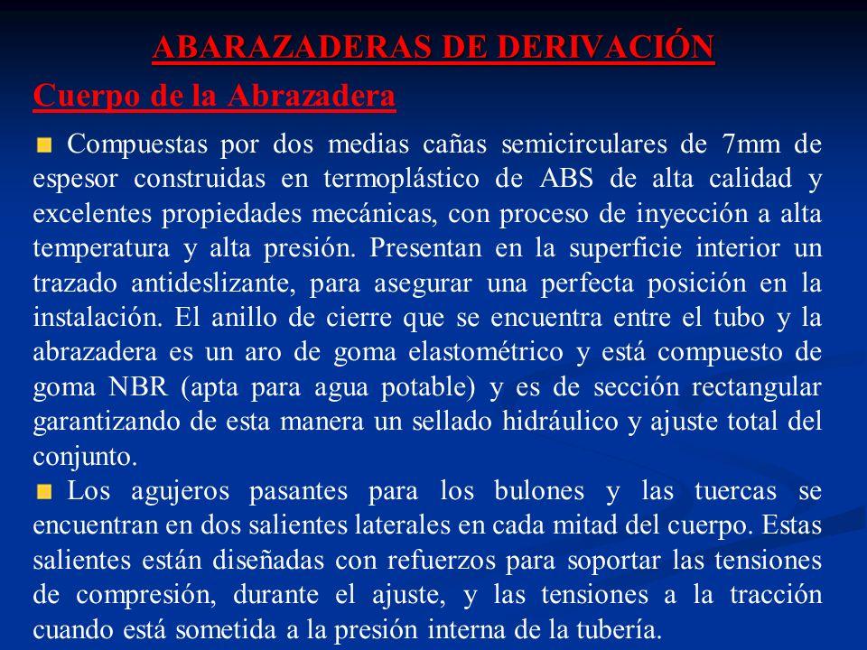 ABARAZADERAS DE DERIVACIÓN