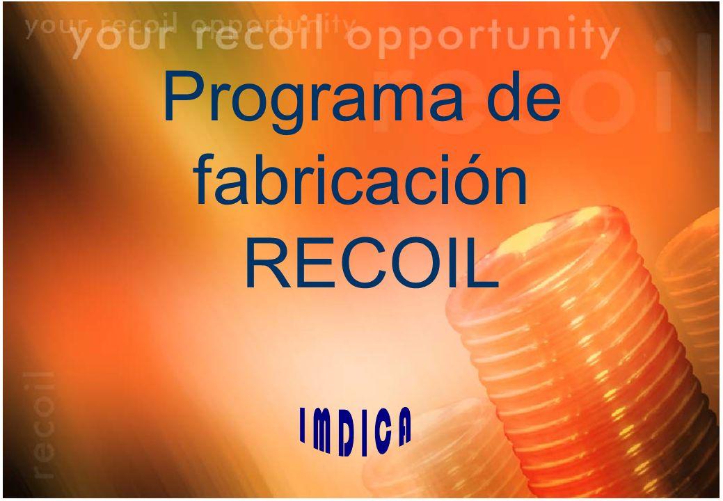 Programa de fabricación RECOIL