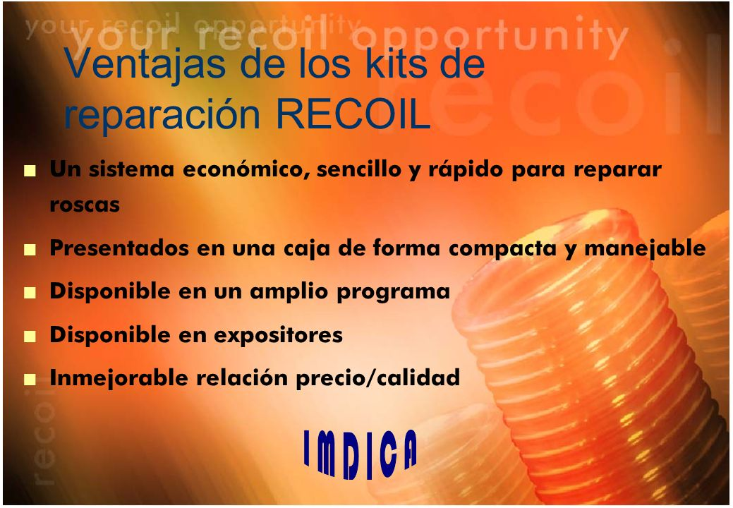 Ventajas de los kits de reparación RECOIL