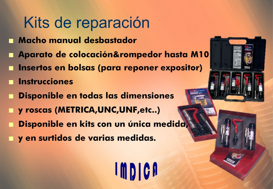 Kits de reparación Macho manual desbastador