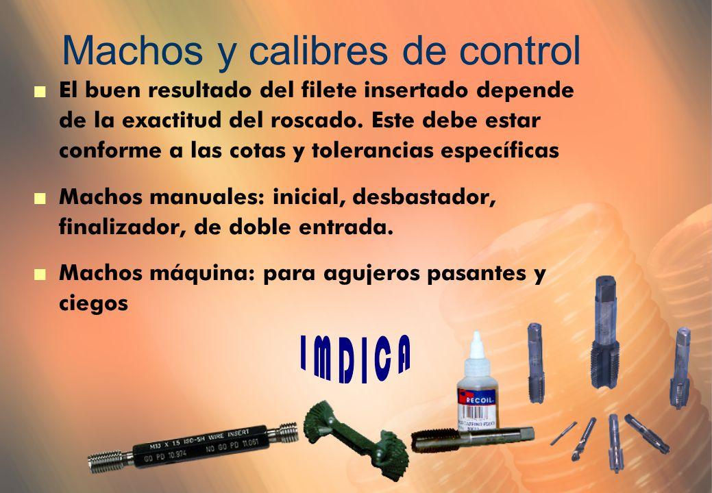 Machos y calibres de control