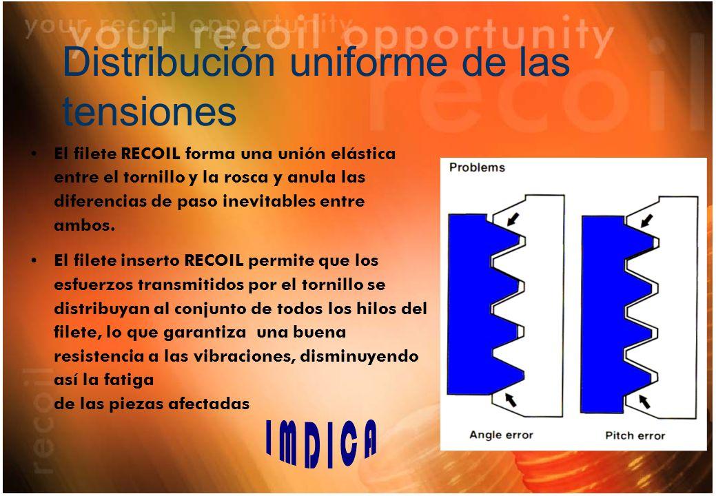 Distribución uniforme de las tensiones