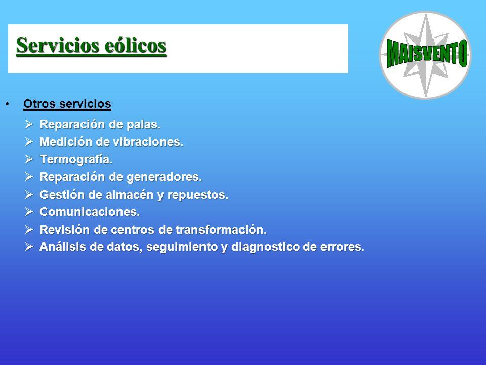 Servicios eólicos Otros servicios Reparación de palas.