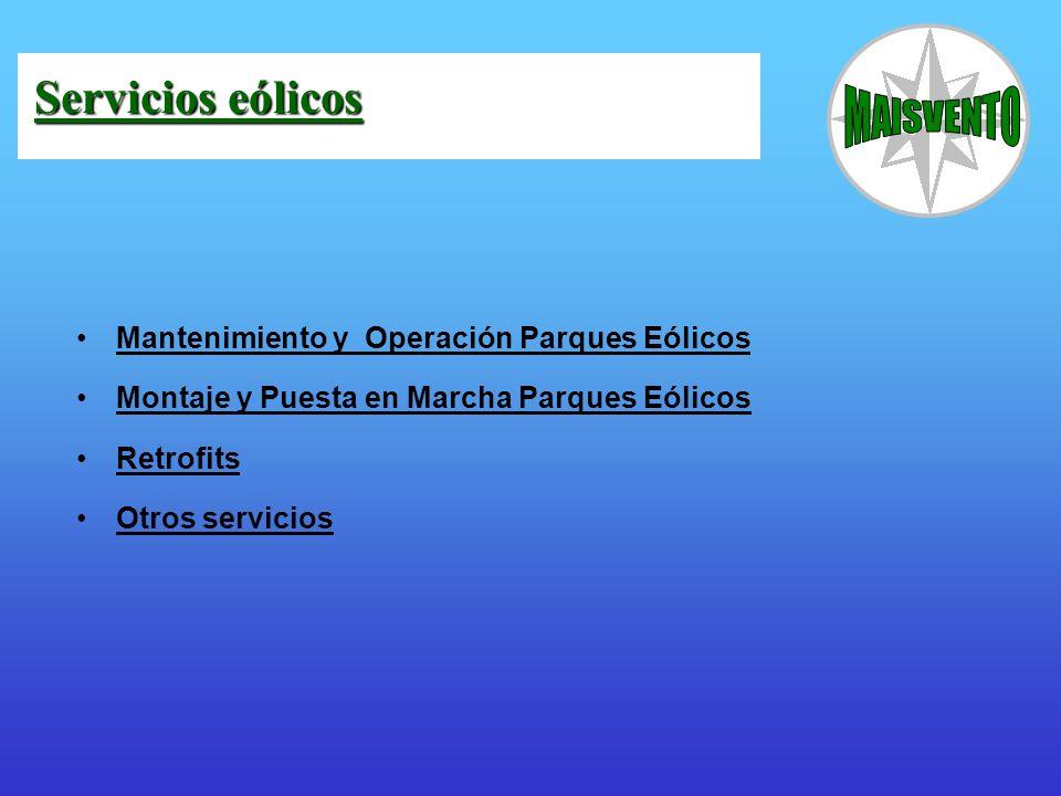 Servicios eólicos Mantenimiento y Operación Parques Eólicos