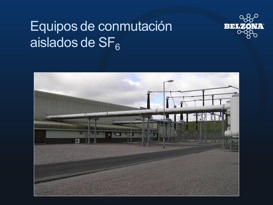 Equipos de conmutación aislados de SF6