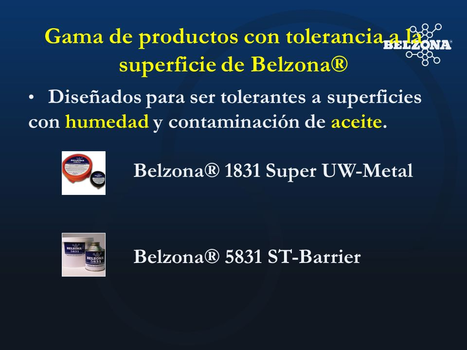 Gama de productos con tolerancia a la superficie de Belzona®