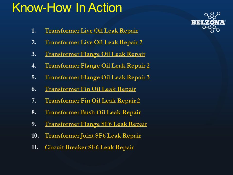 Know-How In Action Transformer Live Oil Leak Repair