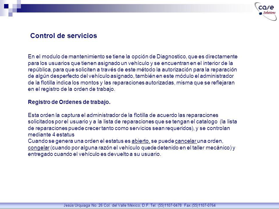 Control de servicios