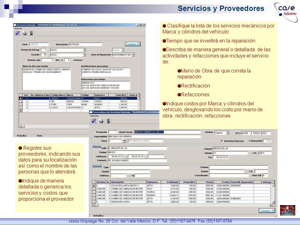 Servicios y Proveedores