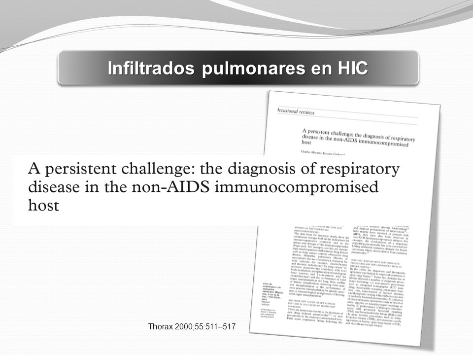 Infiltrados pulmonares en HIC