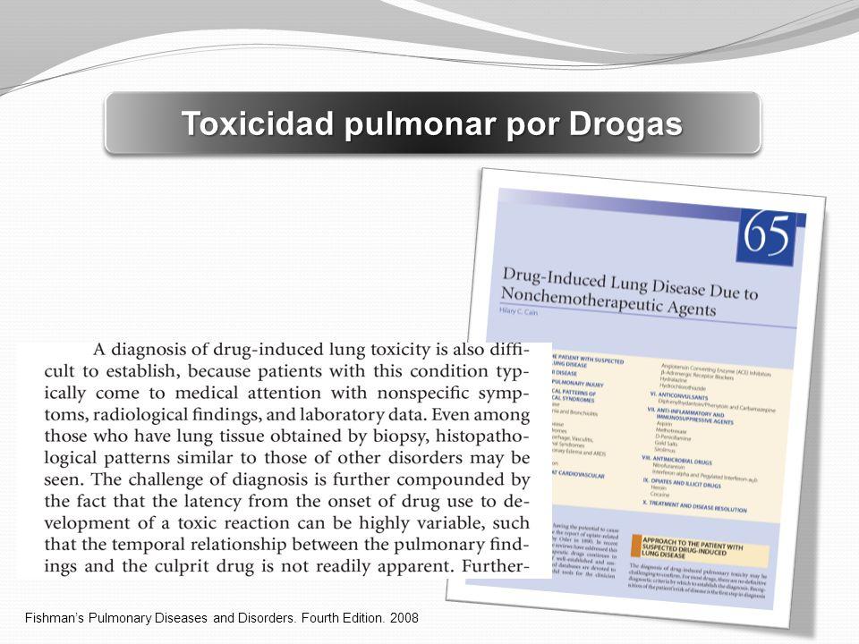 Toxicidad pulmonar por Drogas