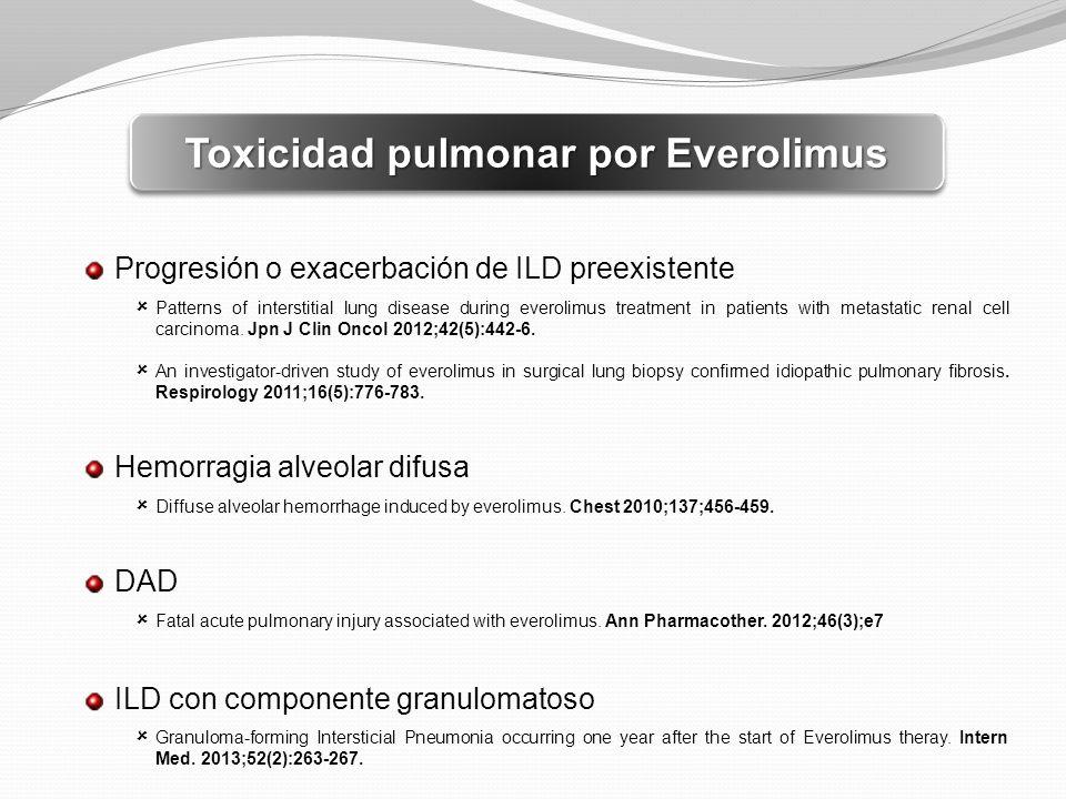 Toxicidad pulmonar por Everolimus