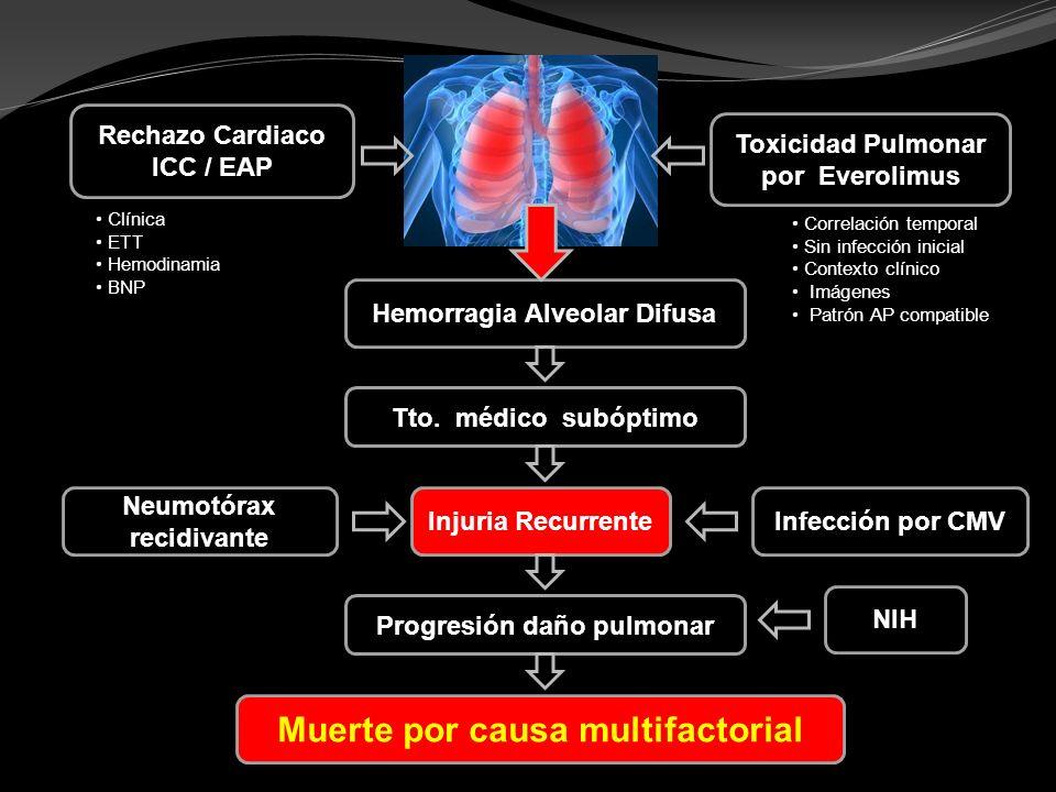 Muerte por causa multifactorial
