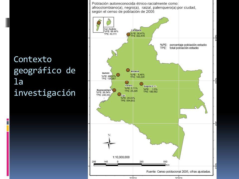 Contexto geográfico de la investigación