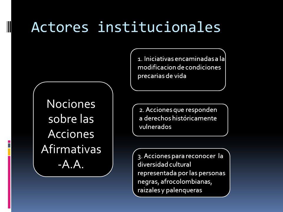 Actores institucionales