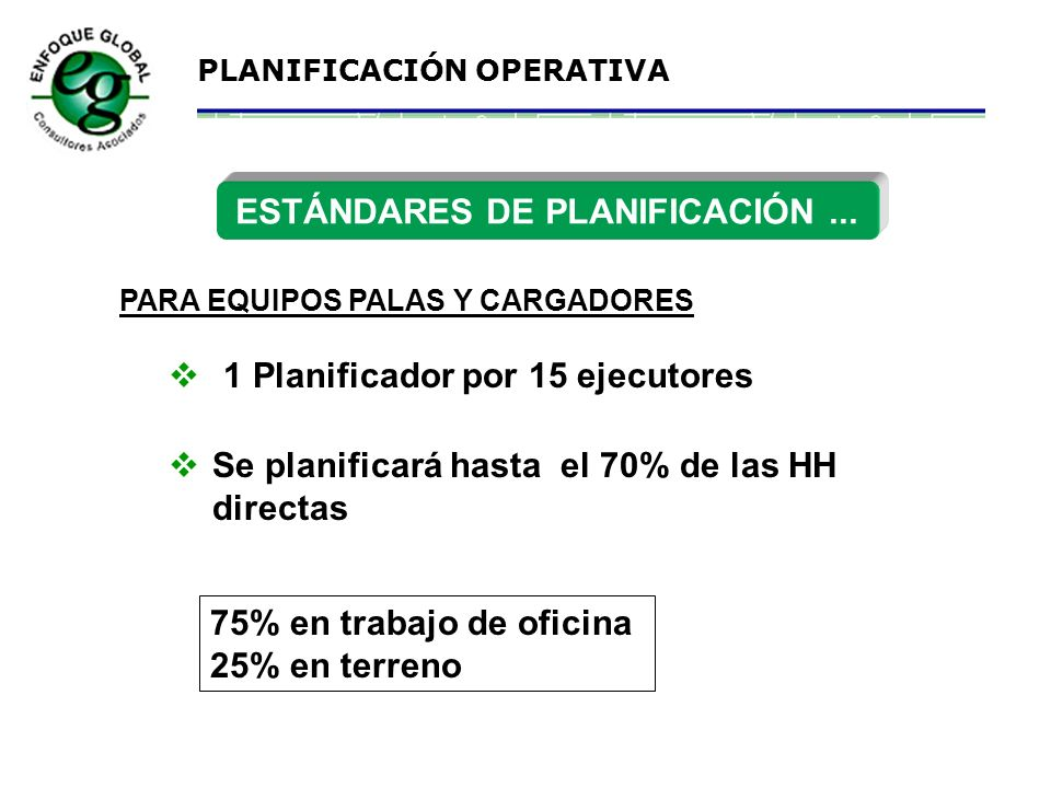 ESTÁNDARES DE PLANIFICACIÓN ...