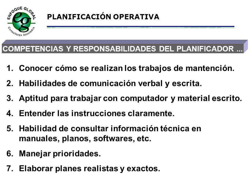 COMPETENCIAS Y RESPONSABILIDADES DEL PLANIFICADOR ...