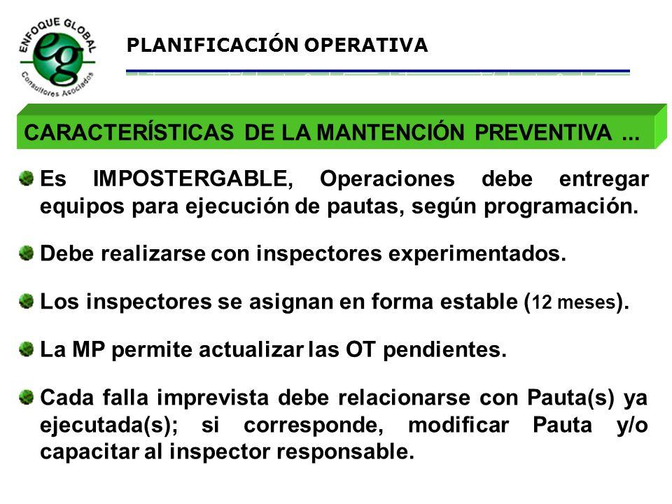 CARACTERÍSTICAS DE LA MANTENCIÓN PREVENTIVA ...
