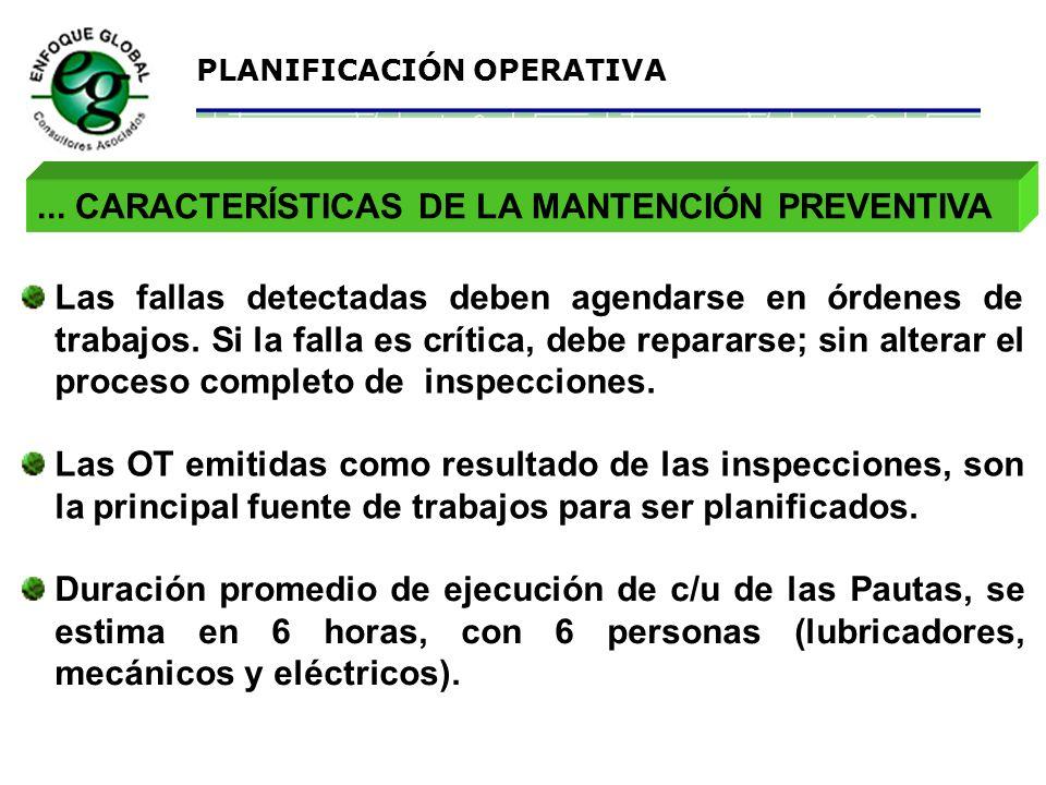 ... CARACTERÍSTICAS DE LA MANTENCIÓN PREVENTIVA