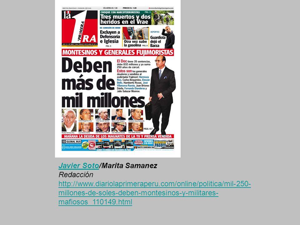 Javier Soto/Marita Samanez Redacción