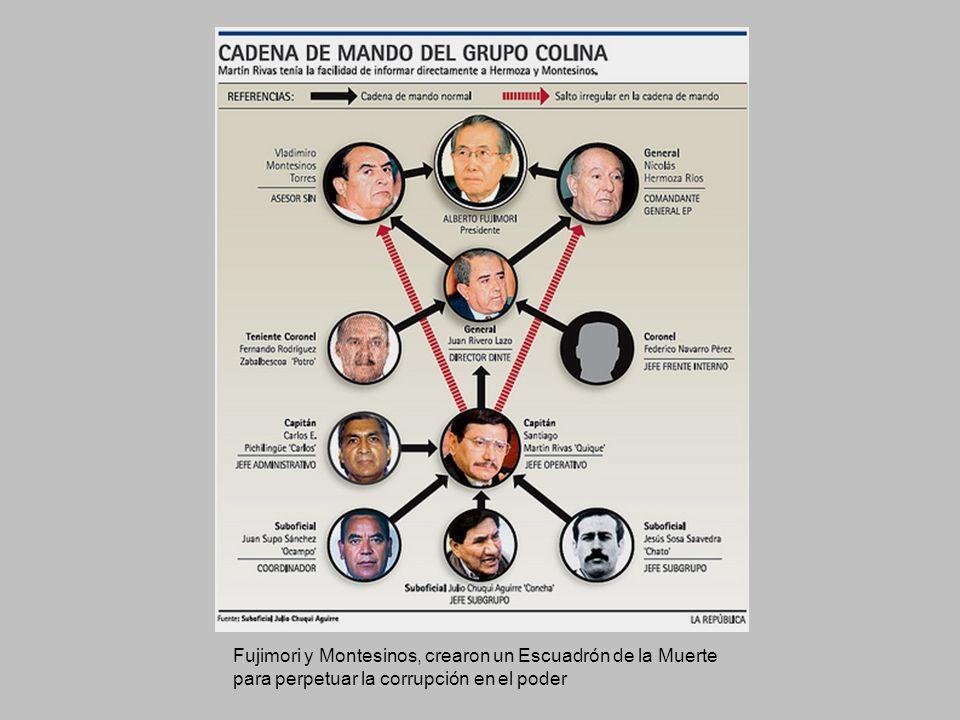 Fujimori y Montesinos, crearon un Escuadrón de la Muerte para perpetuar la corrupción en el poder