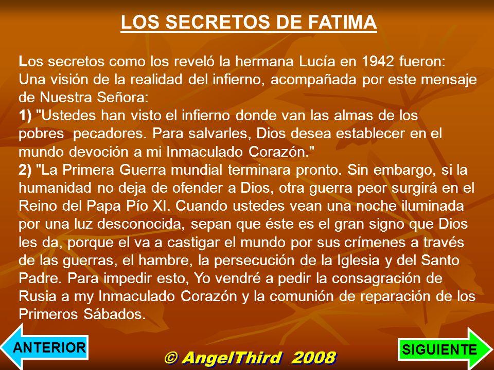 LOS SECRETOS DE FATIMA © AngelThird 2008