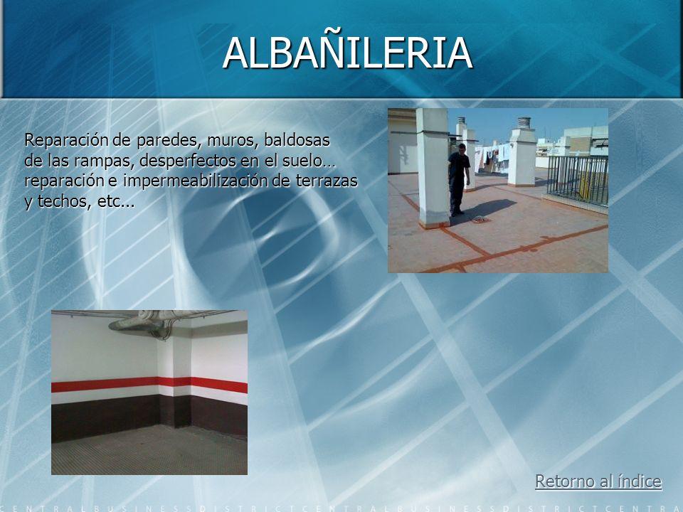 ALBAÑILERIA Reparación de paredes, muros, baldosas