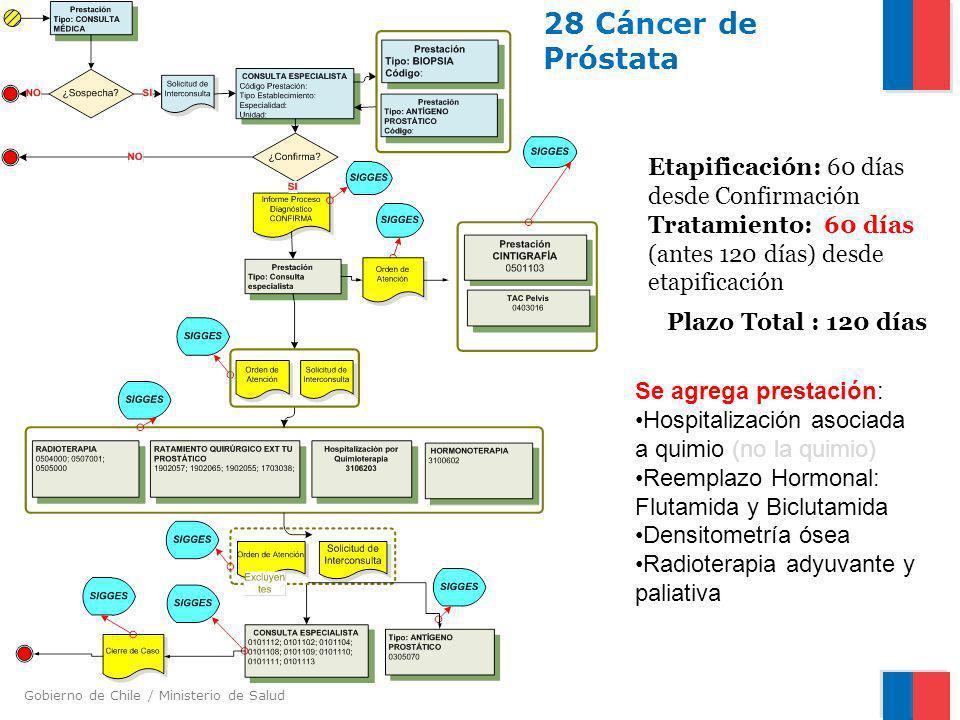 28 Cáncer de Próstata Etapificación: 60 días desde Confirmación