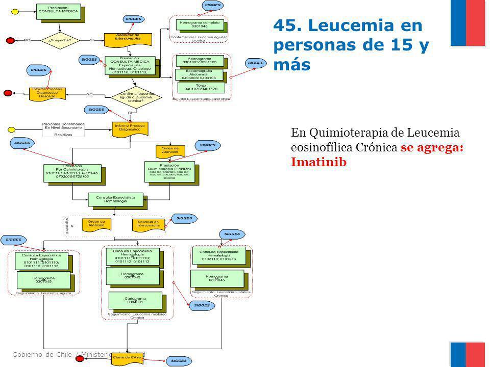 45. Leucemia en personas de 15 y más