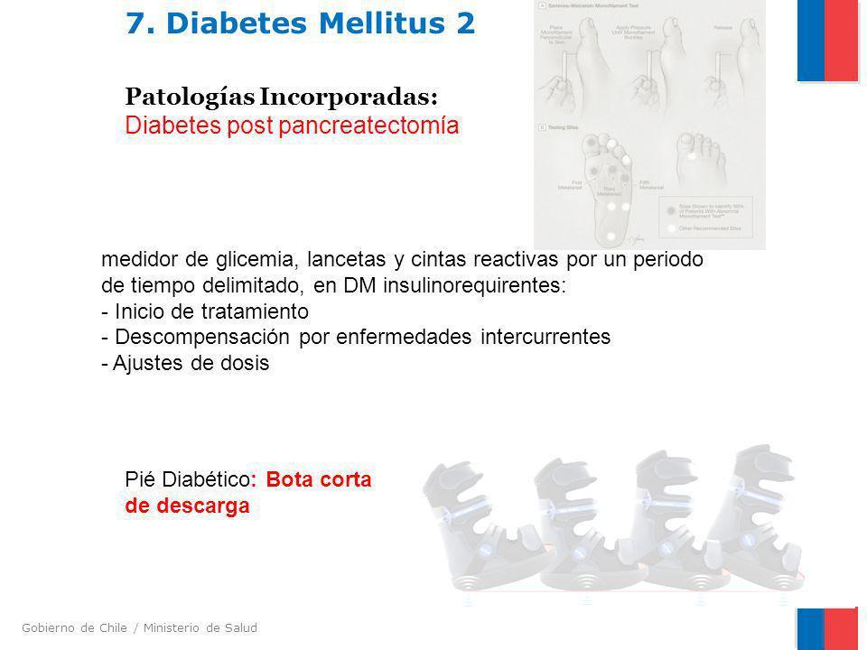 7. Diabetes Mellitus 2 Patologías Incorporadas: