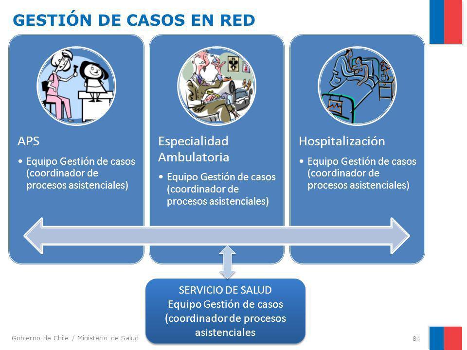 Equipo Gestión de casos (coordinador de procesos asistenciales