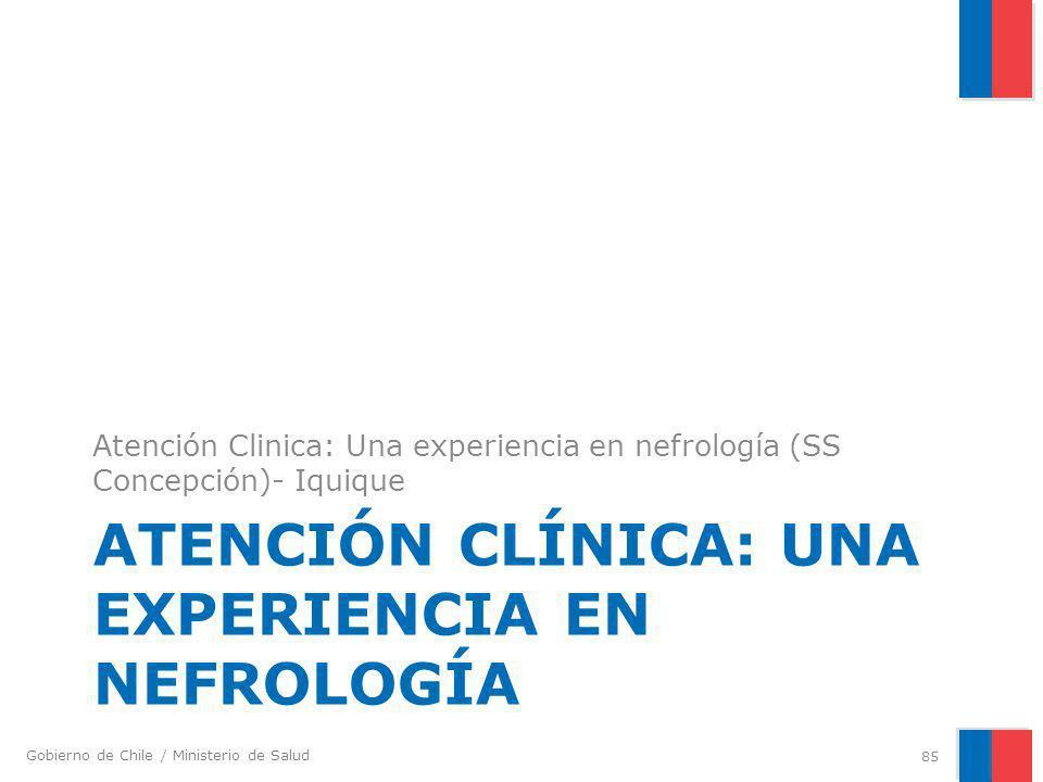 Atención Clínica: Una experiencia en nefrología