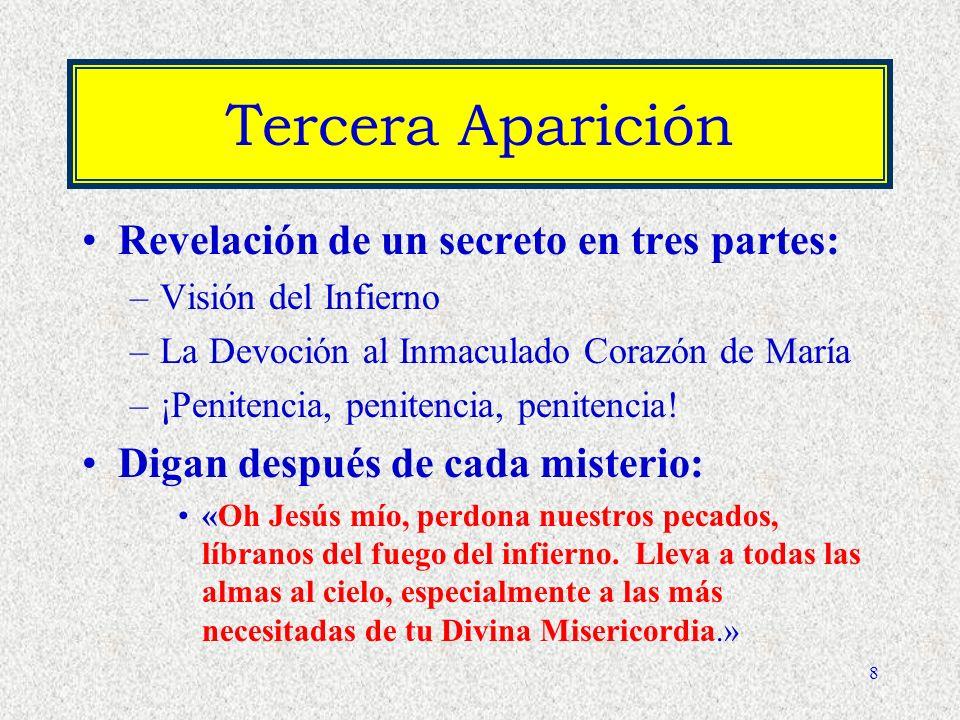 Tercera Aparición Revelación de un secreto en tres partes: