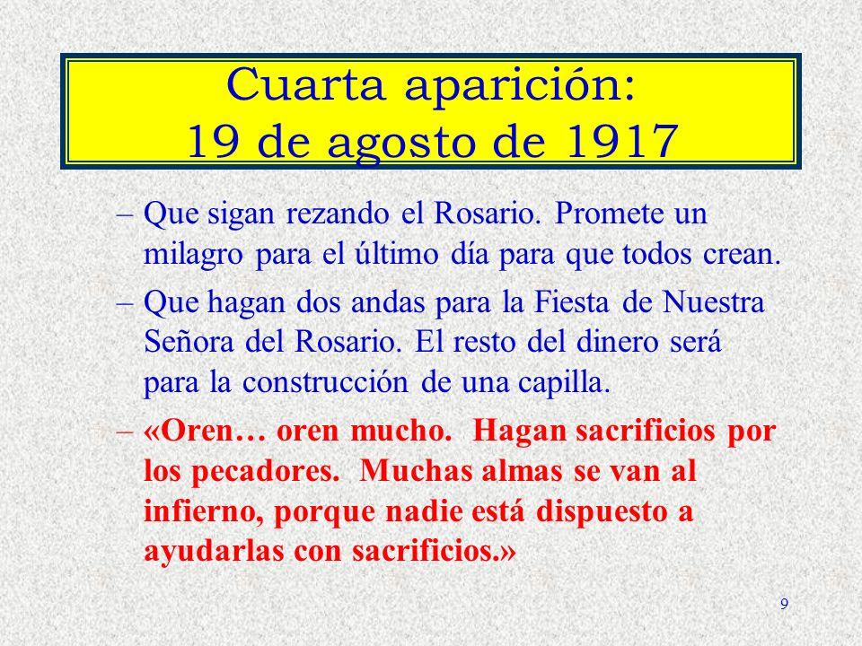 Cuarta aparición: 19 de agosto de 1917