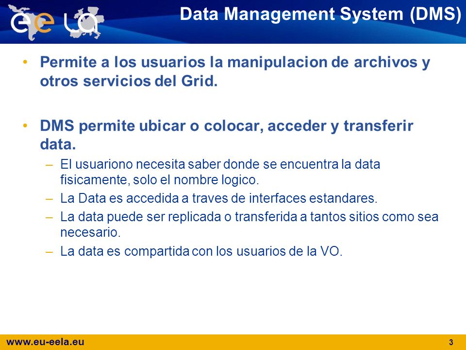 Data Management System (DMS)