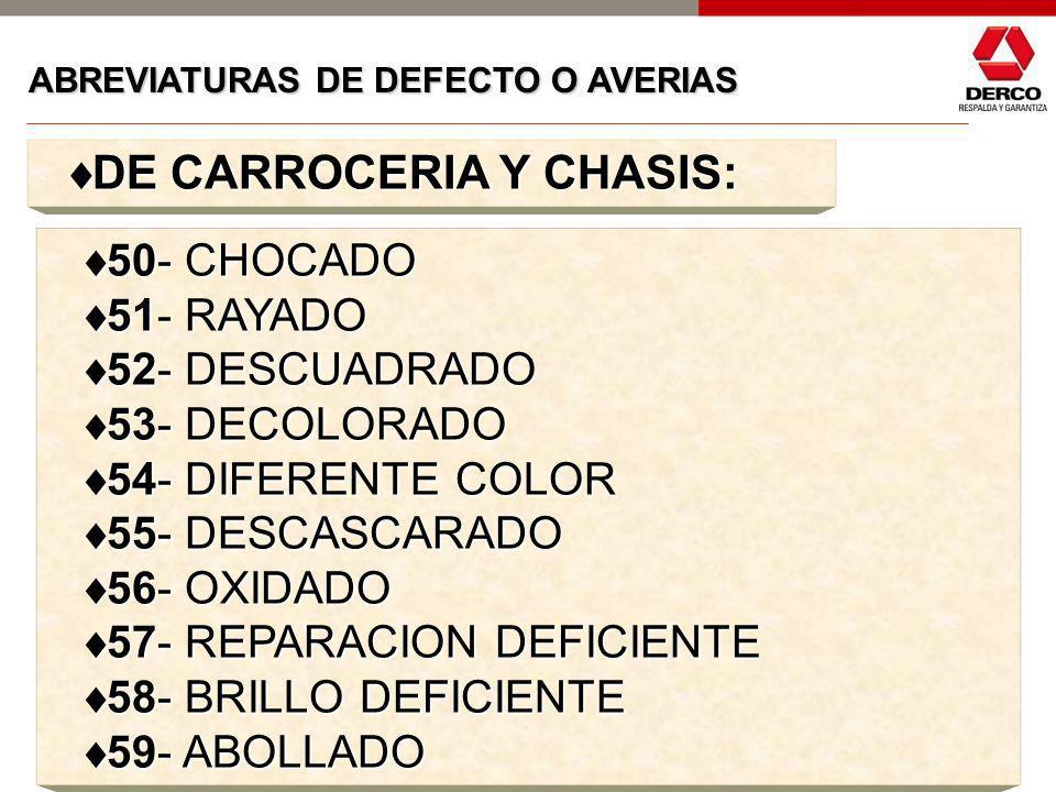 DE CARROCERIA Y CHASIS: