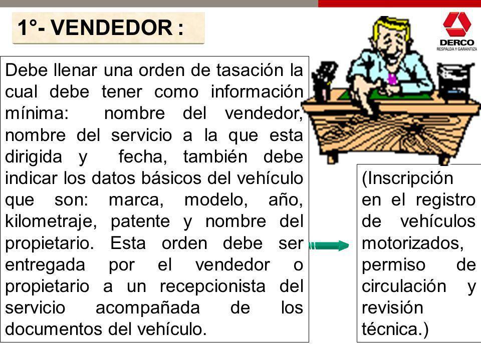 1°- VENDEDOR :