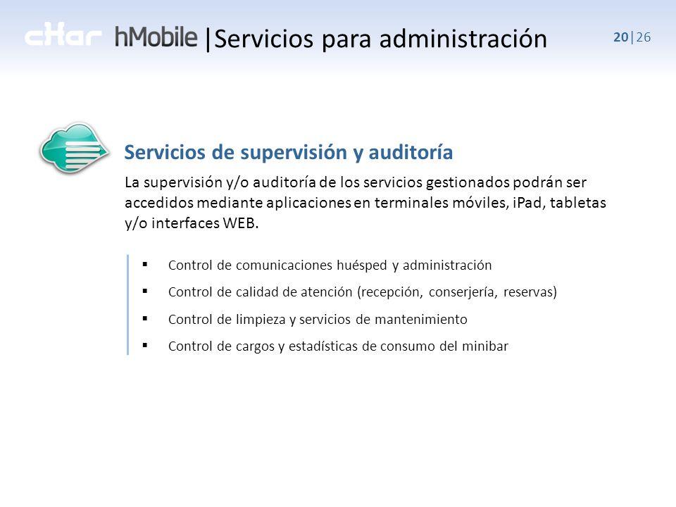 |Servicios para administración