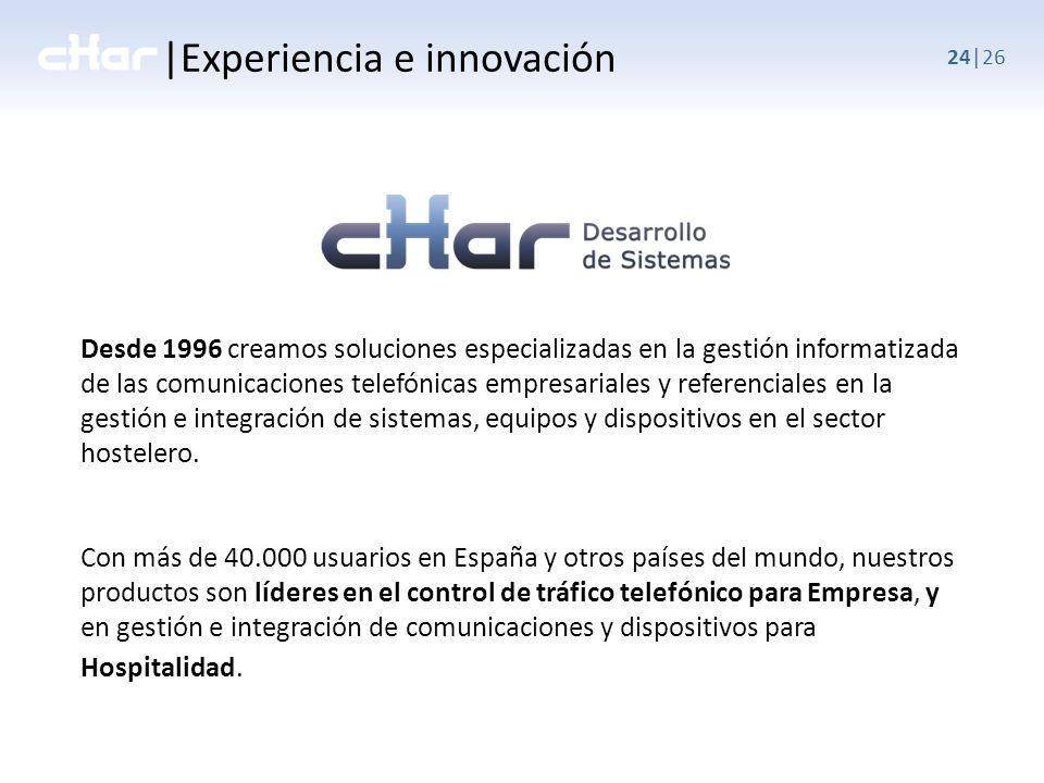 |Experiencia e innovación