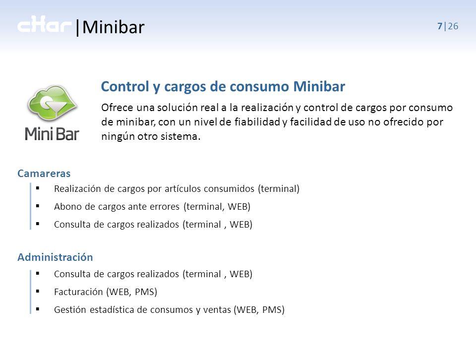 |Minibar Control y cargos de consumo Minibar