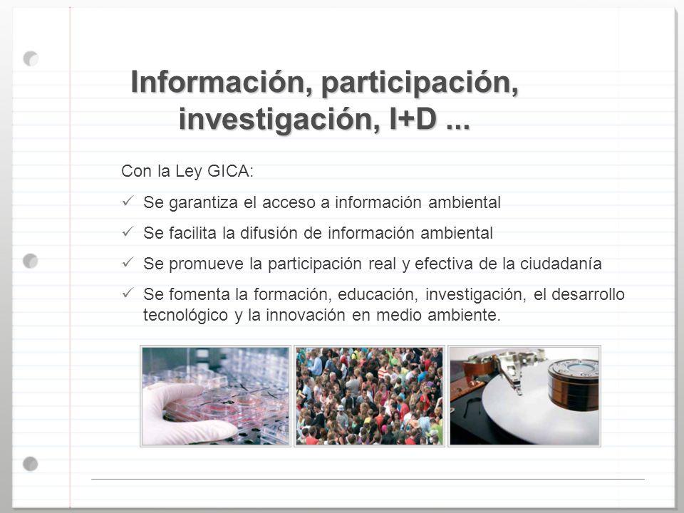 Información, participación, investigación, I+D ...