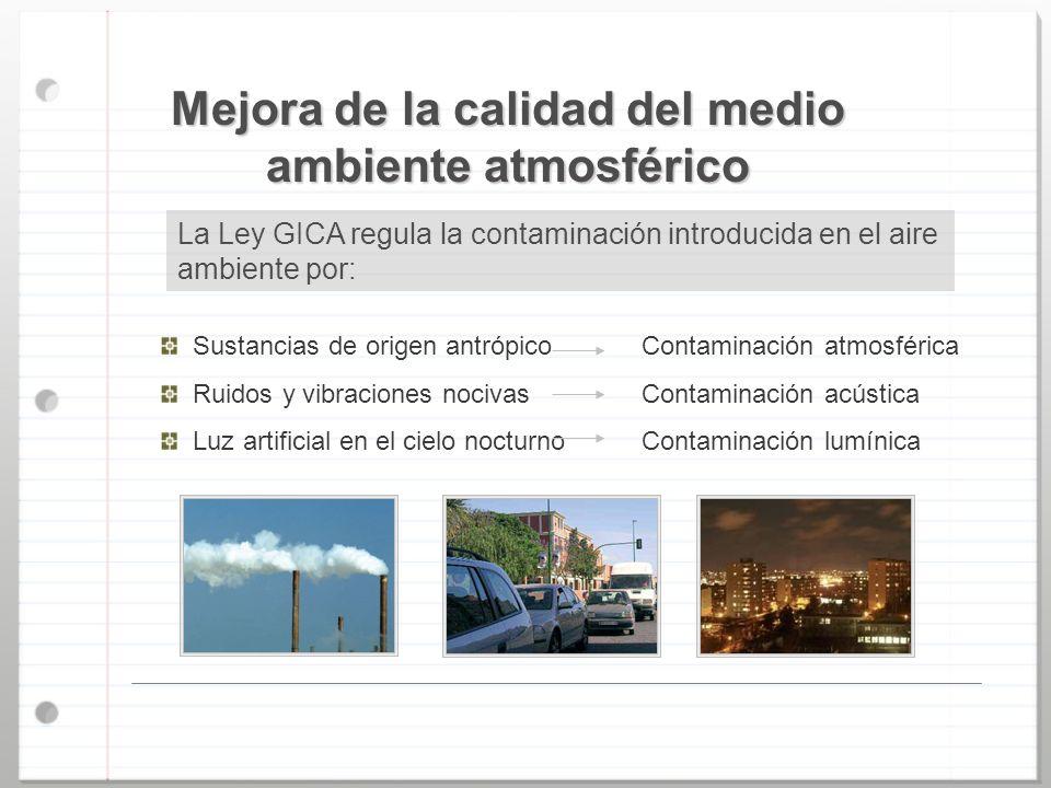 Mejora de la calidad del medio ambiente atmosférico