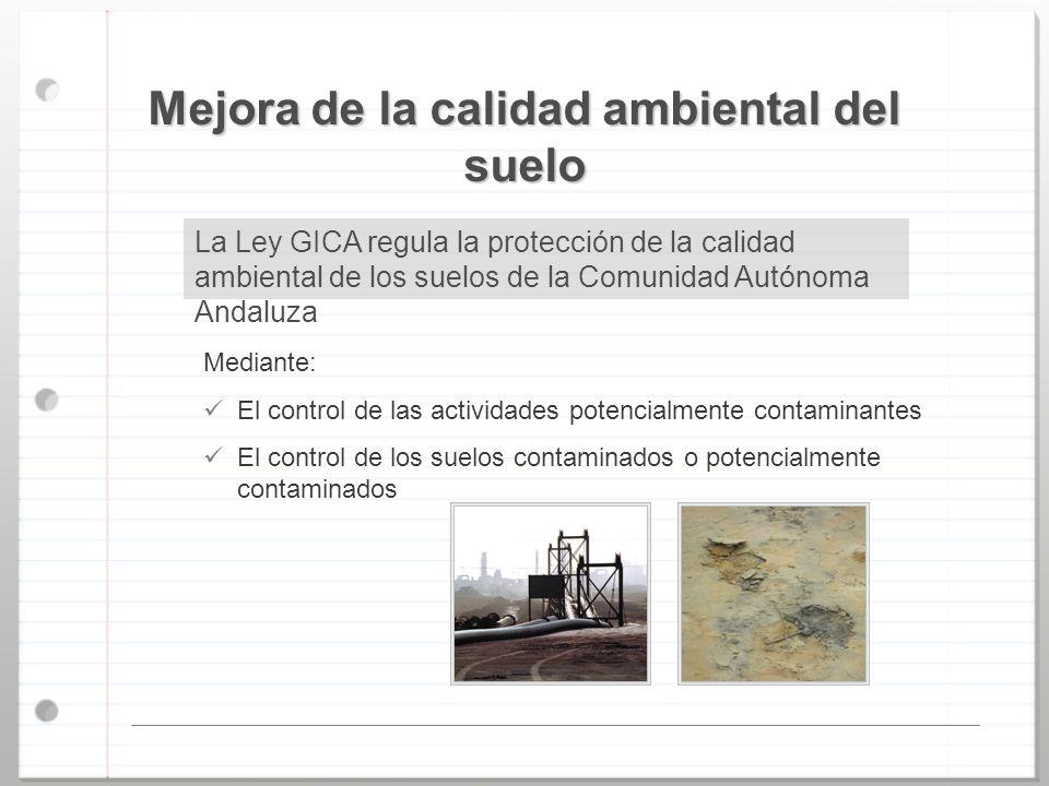 Mejora de la calidad ambiental del suelo