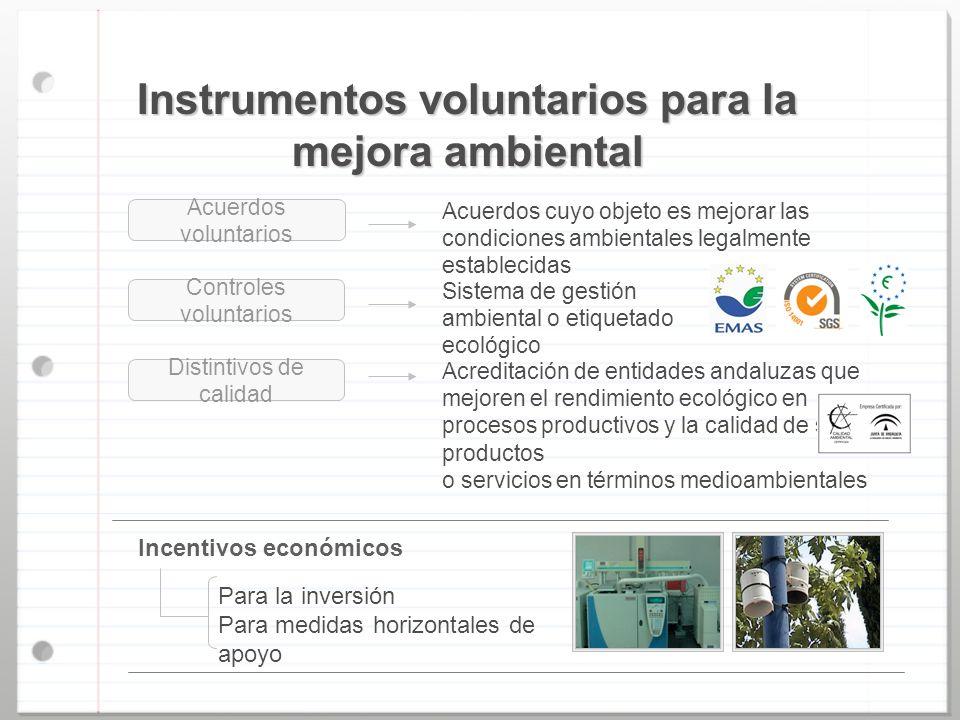 Instrumentos voluntarios para la mejora ambiental