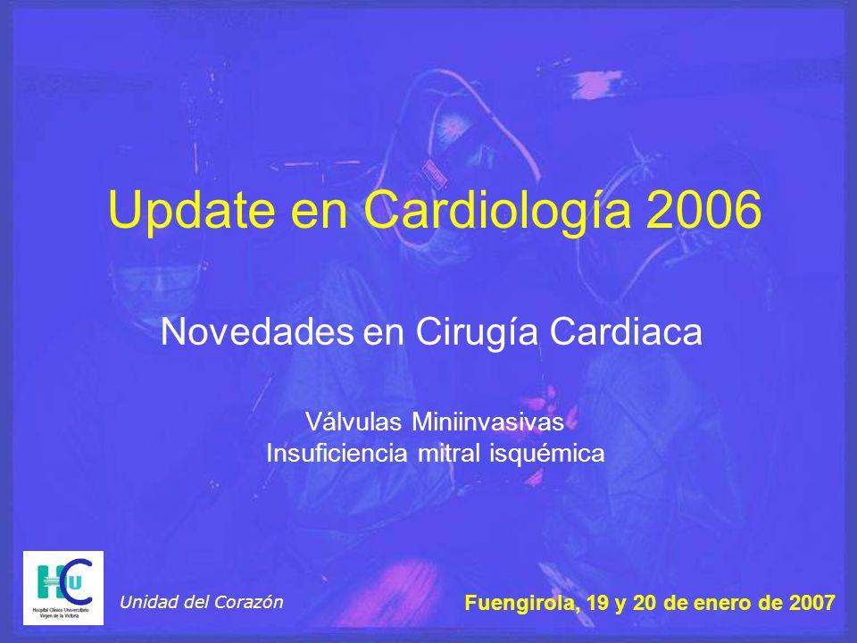 Novedades en Cirugía Cardiaca